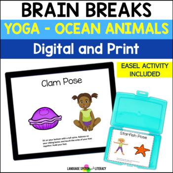 No Print Yoga 2 Ocean & Animal Yoga Poses for Kids   TpT