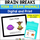 Yoga 2 - Ocean & Animal Poses for  Kids - No Print No Prep