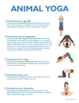 simple yoga sequences for kidskids yoga stories  tpt