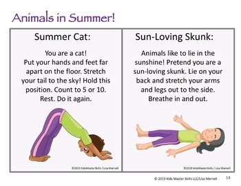 Yoga Cards - Animals