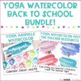Yoga Animals Watercolor Classroom Decor and Meet the Teach