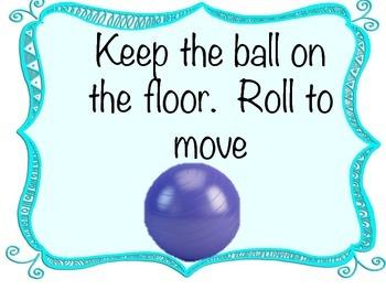 Yoga Ball Chair Rules