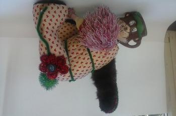 Yoga Bear repurposed sculpture
