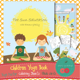 Yoga Book - the Sun Salutation with Flashcards and Coloring Sheets