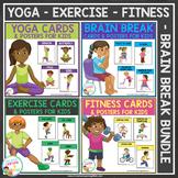 Yoga - Brain Break - Exercise - Fitness Card Bundle