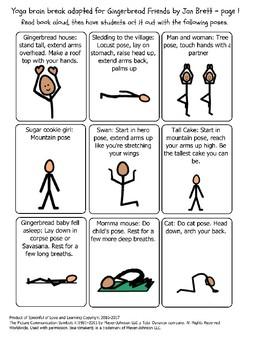 Yoga Brain Break for Gingerbread Friends