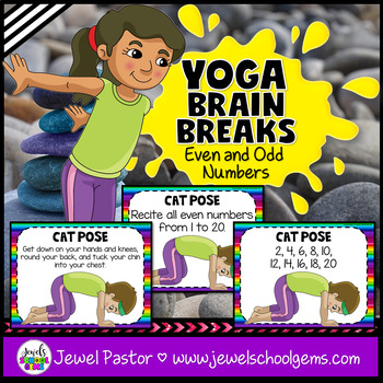Yoga Brain Breaks (Even and Odd Number Activities - Math Review)
