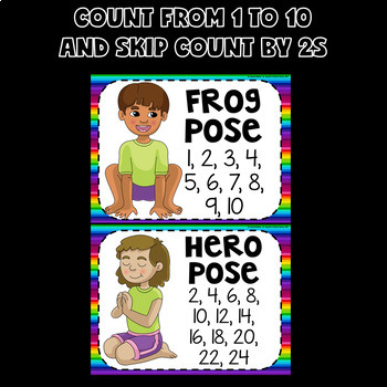 Yoga Brain Breaks FREE (Counting and Skip Counting Activities SAMPLER)
