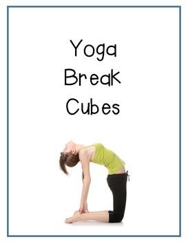 Yoga Break Cubes: Middle/High School