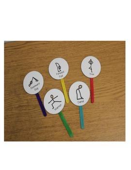 Yoga Break Popsicle Sticks