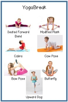 Yoga Break Posters: Preschool/Elementary School
