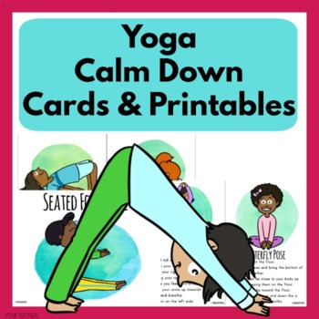 yoga calm down cards and printablespink oatmeal
