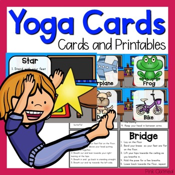 yoga cardspink oatmeal movement for the classroom  tpt