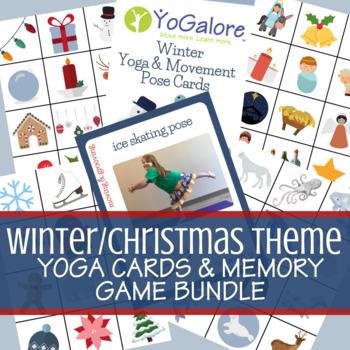 Yoga Cards & Memory Game Winter | Christmas | Holiday | Seasonal