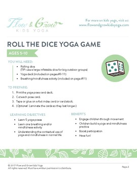 Yoga Game: Roll The Dice (includes Yoga Cards)