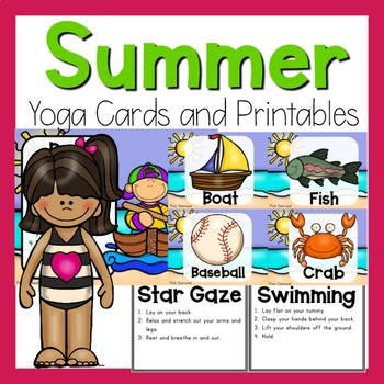 Yoga Cards - Summer Theme
