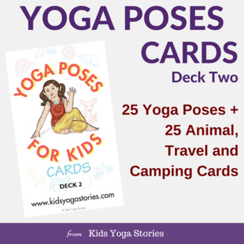 Yoga Cards Poses For Kids Deck Two