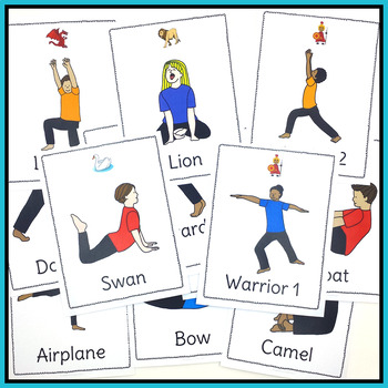 Yoga Cards and Posters Bundle - Ideal for Calming Brain Breaks