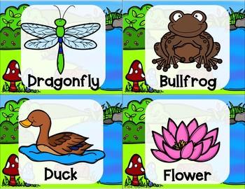 Yoga Cards and Printables - Wetland Theme
