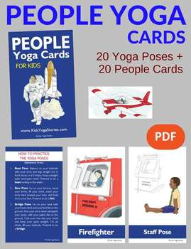 yoga cards for kids  people yoga poseskids yoga