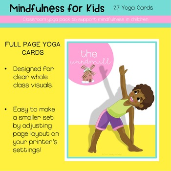 Yoga Cards For Kids | mindfulness and growth mindset
