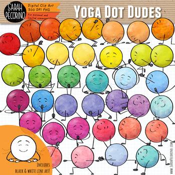 Dot Dudes Yoga Clip Art