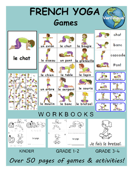 Yoga FRENCH Games & Workbook Pack