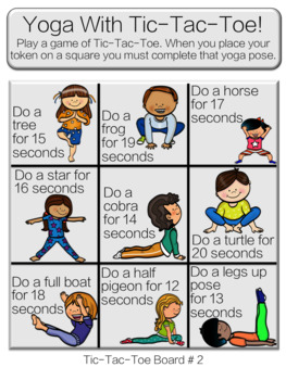yoga  fitness tictactoe 30 unique cards 42 unique