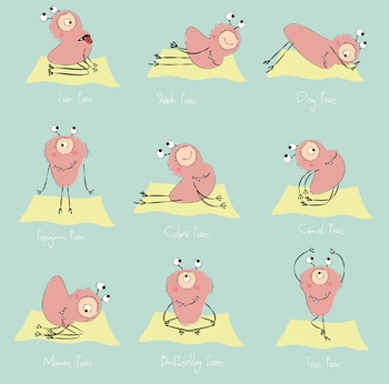 Yoga Flashcards - Yoga Monsters