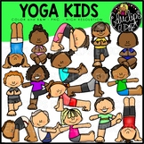Yoga Kids Clip Art Bundle {Educlips Clipart}