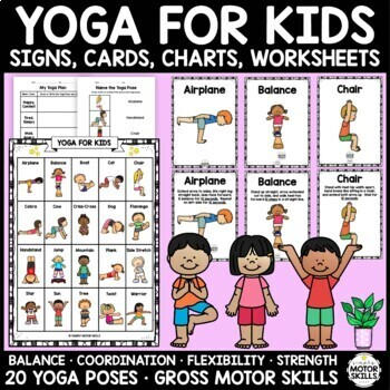 yoga for kids 20 posessigns cards journals charts