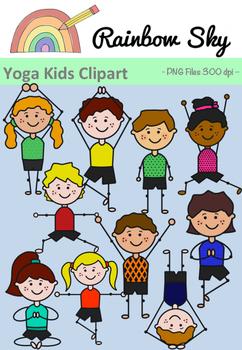 Yoga Kids Clipart