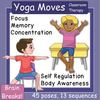 yoga breaks visual cue cards for the classroom therapy