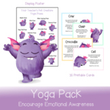 Yoga Pack   Cards and Poster for mindfulness and emotional