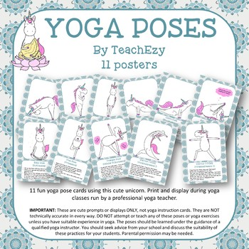 Yoga Pose Cards for Display Purposes Only