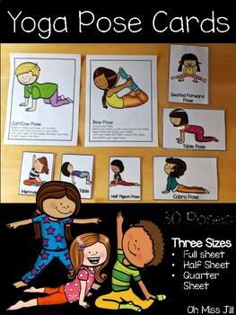 Yoga Pose Cards For Preschool Kindergarten By Oh Miss Jill Tpt