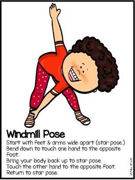 yoga pose cards for preschool  kindergartenoh miss