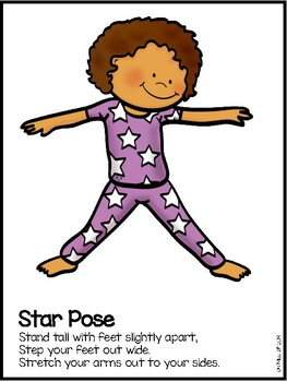 yoga pose cards for preschool  kindergartenoh miss