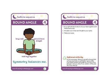 Bedtime Sequence Yoga Pose Card Deck