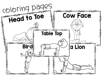 Yoga Poses Bingo Posters And Coloring Pages