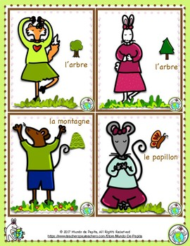 Yoga Poses Cards in FRENCH 12 Cards