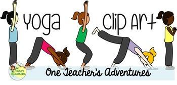 Yoga Poses Clip Art Set - 20 .png images