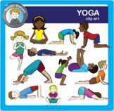 Yoga Poses Clipart Labeled and Unlabeled