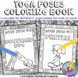 Yoga Poses Coloring Book