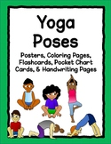 Yoga Poses: Printable Posters, Flashcards, Coloring Pages, & Pocket Chart Cards