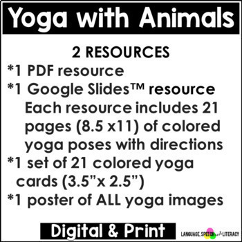 yoga poses with animals for kids great for brain breaks no print - Pics Of Animals For Kids