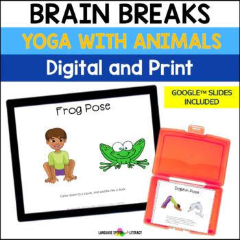 no print yoga poses for kids  animals  yoga cards  tpt