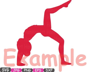 Yoga Poses clip art Monogram Fitness sport Health SVG Exercise gym School -316s