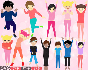 Yoga Poses clip art Silhouettes Fitness sport Health SVG Exercise School -542s