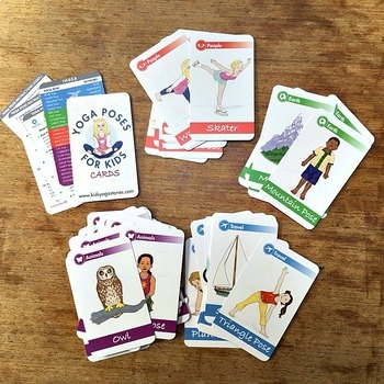 yoga cards yoga poses for kids cards deck onekids